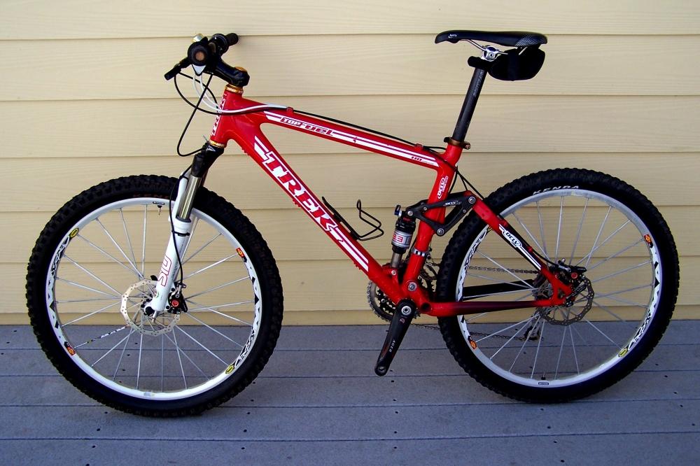 Trek Team Edition 110 Top Fuel carbon fiber mountain bike for sale (1/6)